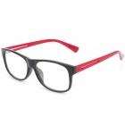 SENLAN M6269 Stylish Anti-Radiation Resin Lens Glasses - Black + Red