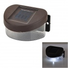 0.8W 7000K 1-LED White Mini Solar Powered Fence / Wall / Garden Lamp - Dark Brown + Transparent