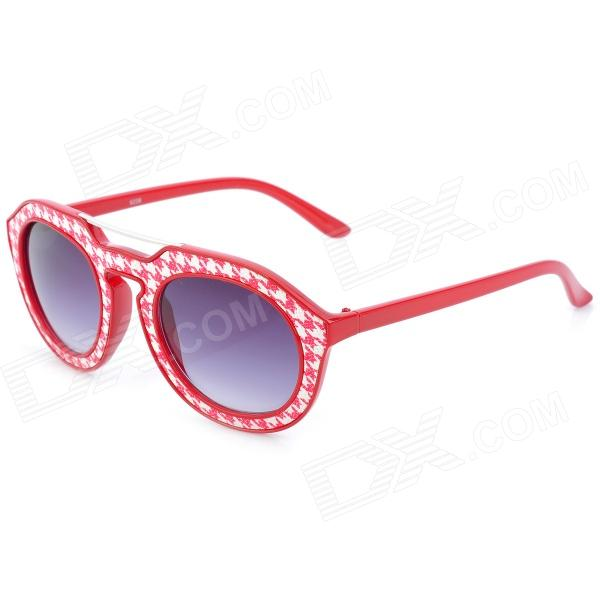 SENLAN 6236 Retro Style UV400 Protection Sunglasses - Red + White велосипедные перчатки mai senlan m81013