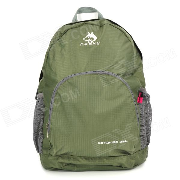 Hasky CY-0973 Nylon Frameless Folding Backpack - Army Green (28L)
