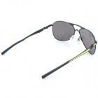 OREKA 4049 Fashion Retro Style Polarized Resin Lens Sunglasses for Men - Black + Yellow