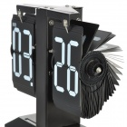 New Desktop Flip Digital Time Scoreboard w/ Hours + Night Light - Black + White