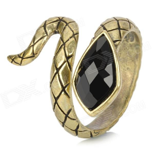 Cool Snake Style zinklegering Ring - Bronze + Black