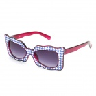 SENLAN M6179 UV Protection Resin Lens Decoration / Computer Glasses - Purple + Blue + White
