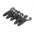 Lifelike Shrimp Shape Soft Plastic Fishing Bait - Black (5 PCS)