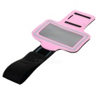 Protective Sport Armband Case for Samsung 9300 S3 Mini - Pink + Black