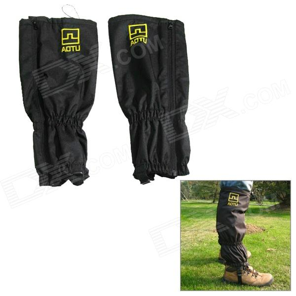 AOTU C01 Outdoor Mountaineering / Climbing / Hiking Water Resistant Leg Gaiters- Black (Pair)