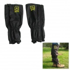 AOTU C01 Outdoor Mountaineering / Climbing / Hiking Water Resistant Leg Gaiters - Black (Pair)