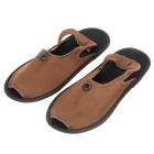 Travelicons Portable Folding Slippers w/ Bag - Brown + Black (Pair)
