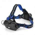 220lm 3-Mode Cold White Light Bicycle / Helmet / Walking Headlamp w/ Cree XM-L T6 - Black + Silver
