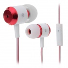 MAIBOSI MA-336 Dual-Color In-Ear Earphones w/ Microphone for iPhone / iPad / iPod - Red + White