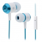 MAIBOSI MA-336 Dual-Color In-Ear Earphones w/ Microphone for Iphone / Ipad / Ipod - White + Blue