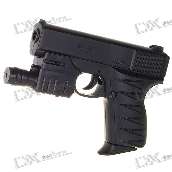 HuangHe M2000 6mm Pistol BB Gun Toy with Laser Sight