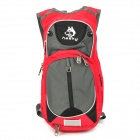hasky CY-2013 Outdoor Backpacking Traveling Dual-Zipper Nylon Backpack - Red + Grey (18L)