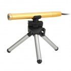 Portable USB Digital 10~600X Microscope w/ 4-LED White Light - Golden + Black