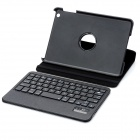 Bluetooth v3.0 59-Key Keyboard + 360 Degree Rotational Stand Case for iPad Mini - Black