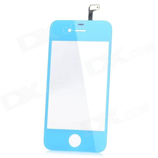 Replacement Glass Screen for iPhone 4 - Light Blue + Transparent