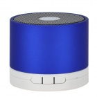 S-089 3W Bluetooth v2.0 1-Channel Speaker w/ Microphone for Iphone 4 - Blue + White
