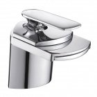 PHASAT 4701 Wide Mouth Chrome Single-Handle Waterfall Faucet - Silver