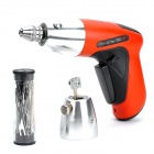 K303 Rechargeable Electronic Lock Pick Gun w/ EU Plug Power Adapter - Orange + Black