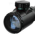 3-9X40EG 3~9X Magnification Red / Green Light Gun Aiming Scope Sight - Black (1 x CR2032)