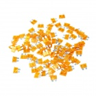 Boshi 5A Car Accessory Audio Fuse - Yellow (100 PCS)