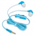In-Ear Stereo Earphone w/ Microphone Clip for Iphone + Samsung + More - Blue + White (110CM-Length)