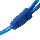 RCA Female to 2-RCA Male Car Audio Cable - Blue (30cm)