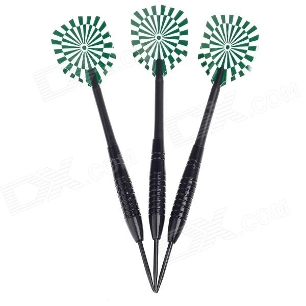 Professional Sharp Tungsten-Plated Iron Darts for Dart Game - Black(3 PCS)