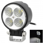 12W 400lm 6500K 4-SMD LED White Light Car Headlamp / Front Fog Lamp (10~30V)