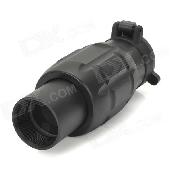 3X Ampliación Gun Sight Rifle Con el objetivo de 20mm - Negro