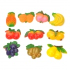 R8507 Cute Fruit Style Plastic Fridge Magnet Stickers - Multicolored (10 PCS)