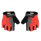 FAXIANZHE Outdoor Cycling Half-Finger Gloves - Black + Red + Grey (Size M / Pair)