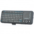 iPazzPort KP-810-10A 2.4GHz Mini Wireless Fly Air Mouse 82-Key Keyboard - Black
