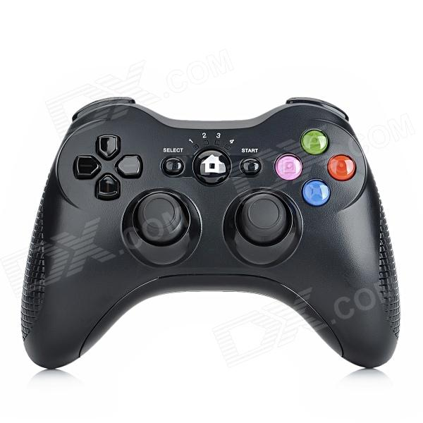Stylish Wireless Bluetooth V4.0 DoubleShock Controller for PS3 / PS3 Slim / PS3 CECH 4000 - Black