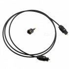 Digital Square Optical Fiber Audio Cable w/ Round Adapter - Black (1m)