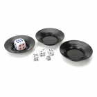 6985 Magie Super Flying Saucer Dice - Black + White