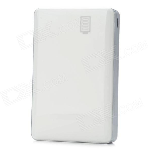 IP063 Portable External 13600mAh Power Bank w/ 1-LED for iPhone 4 / 4S / iPad 2 - White