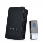 Wireless MP3 Doorbell Door Chime Transmitter + Receiver Set - Black (1 x CR2032 / 3 x AA)