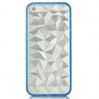 Protective 3D Diamond Pattern Back Case for Iphone 5 - Transparent + Blue