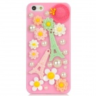 Protective 3D Eiffel Tower Pattern Back Case for Iphone 5 - Multicolored