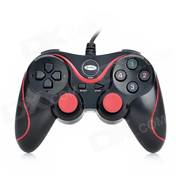 Gedoushi USB Game Controller for PC - Black + Red