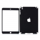 Protective Matte PVC Front Screen Guard + Back Sticker for iPad Mini - Black + Transparent