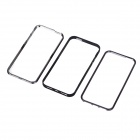 Three-Layers Detachable Protective Plastic Bumper Case for Iphone 5 - Black