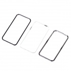 Three-Layers Detachable Protective Plastic Bumper Case for Iphone 5 - Black + White