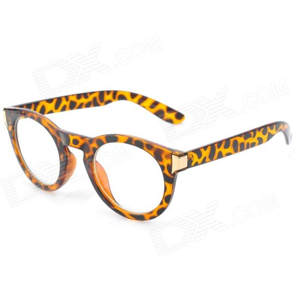 SENLAN M6270 Stylish Leopard PSY Style Anti-Radiation Resin Glasses / Spectacles - Brown + Black