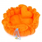Pet's Dog Cat Washable PP Cotton Nest - Orange