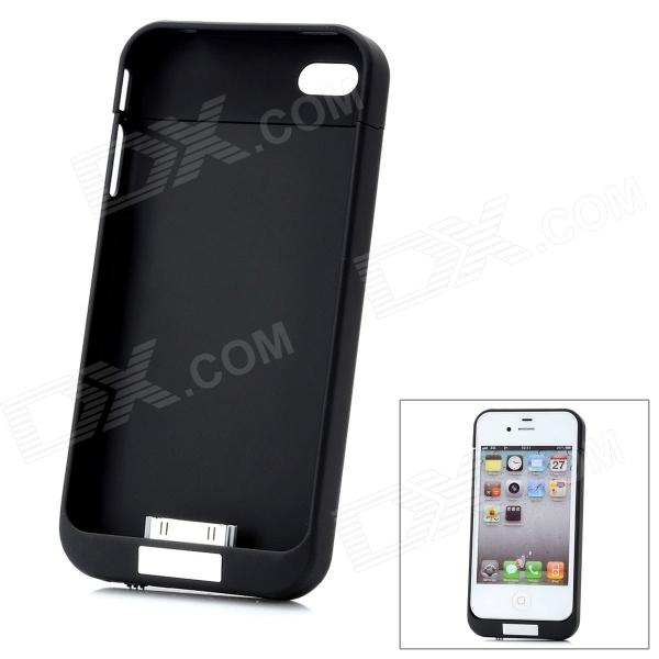 Power Pack LLZ-2100 Portable 2100mAh Battery Case for iPhone 4 / 4S - Black