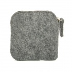 Mini & Portable Cosmetic Makeup Felted Wool Soft Bag Case - Grau