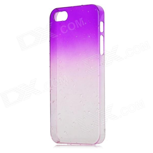 Water Drops Style Protective Plastic Back Case for Iphone 5 - Translucent Purple